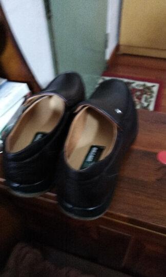 牛头牌男皮鞋95841 男式头层牛皮真皮日常商务休闲正装透气皮鞋 棕色 41 晒单图
