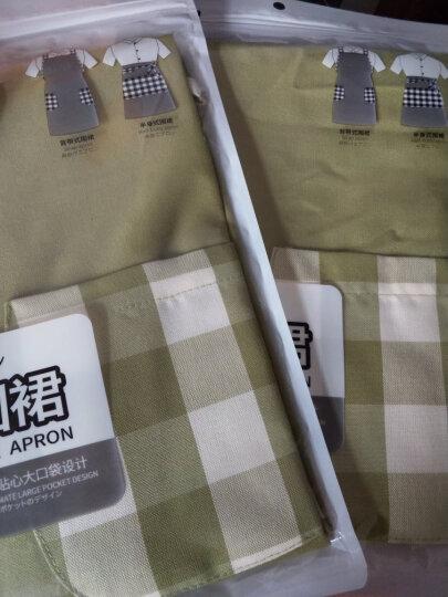 FaSoLa 围裙女 厨房防油防污袖套 罩衣 家居防护罩工作服 绿色背带式围裙 晒单图