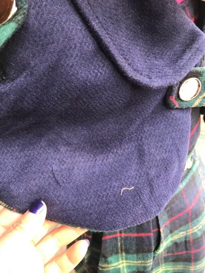 童星闪闪(MORSAISTAR) 女中大童毛衣小孩韩版秋冬新款黑色针织衫上衣 黑色加绒双层蕾丝爱心毛衣 130 晒单图