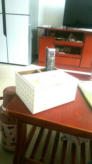 宜优尙品  新品欧式简约创意纸巾盒 大屏手机遥控器收纳盒 桌面多功能纸巾盒 复古印花(2格) 晒单图