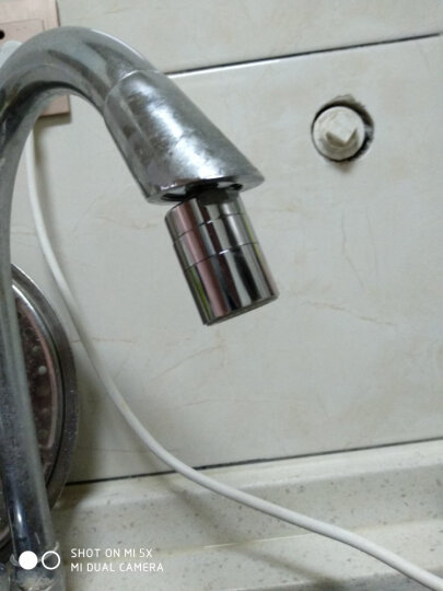 一靓 双模式水龙头配件黄铜起泡器内芯过滤网嘴节水器发泡器防溅出水嘴 F款  M22 外丝万向起泡器 可360度转变方向 晒单图