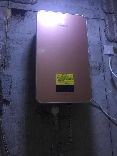沐克(MOKER) 电热水器 即热式电热水器淋浴洗澡16升立式双胆速热储水全智能恒温大水量X3/ 16L/5.5KW/玫瑰金 晒单图