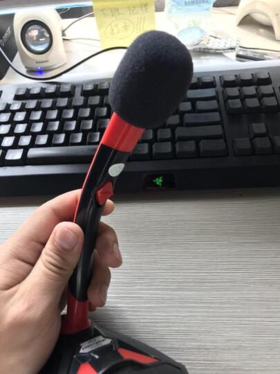 【次日达】K1 电脑麦克风话筒台式机笔记本用游戏语音吃鸡YY主播直播设备有线usb接口电容麦录课会议 蓝白—3.5MM接口 晒单图