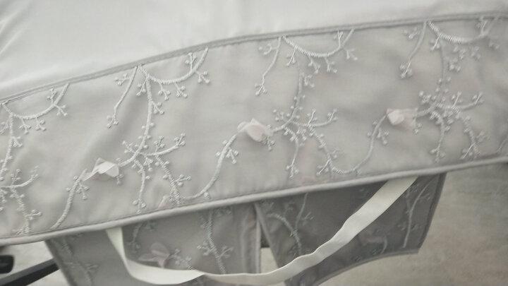 辉胜 夏季电动车挡风被 防晒防水摩托车电瓶车挡风遮阳防晒罩薄款 蜻蜓-雪芽色套装 晒单图
