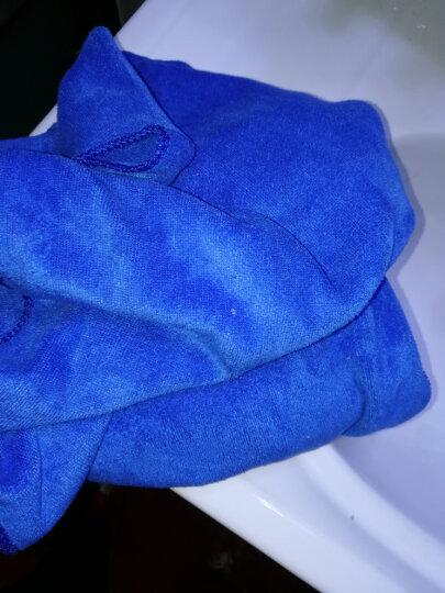 奥吉龙 洗车毛巾擦车布专用加厚吸水不掉毛大小号多功能刷车巾蓝紫大毛巾两条装送内饰250ml 晒单图