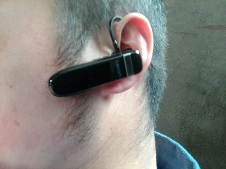 Dacom K2 蓝牙耳机超长待机防水无线商务车载运动迷你挂耳式适用于苹果7OPPO 黑色 晒单图