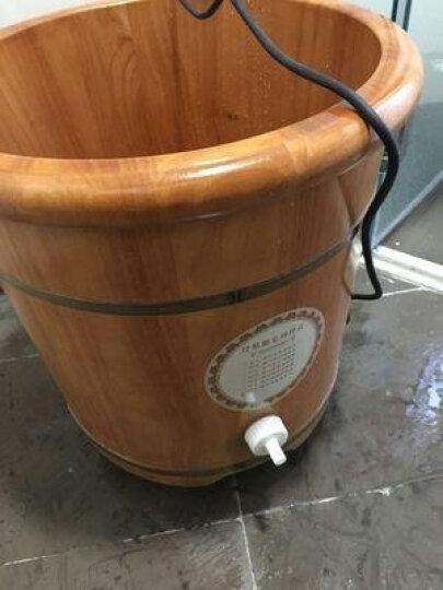 足道橡木泡脚桶 木桶足浴桶加高40CM洗脚盆自动恒温足浴盆熏蒸带盖养生桶 足浴桶带盖 晒单图