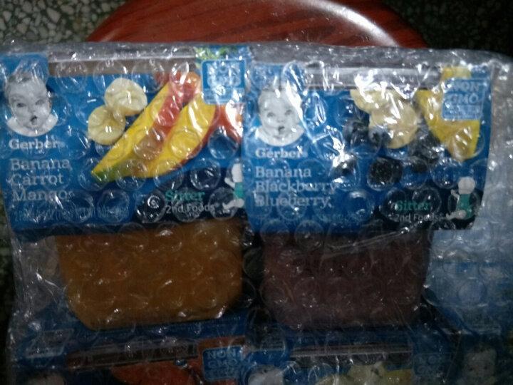 嘉宝(GERBER) 婴幼儿营养辅食 宝宝零食果泥 蔬菜泥 果汁泥多种口味 二段 香蕉蓝莓黑莓226g 晒单图