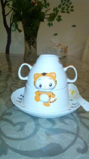 瓷博 景德镇陶瓷儿童餐具套装 12生肖卡通系列5头碗盘勺杯 61小朋友节日礼物 狗 晒单图