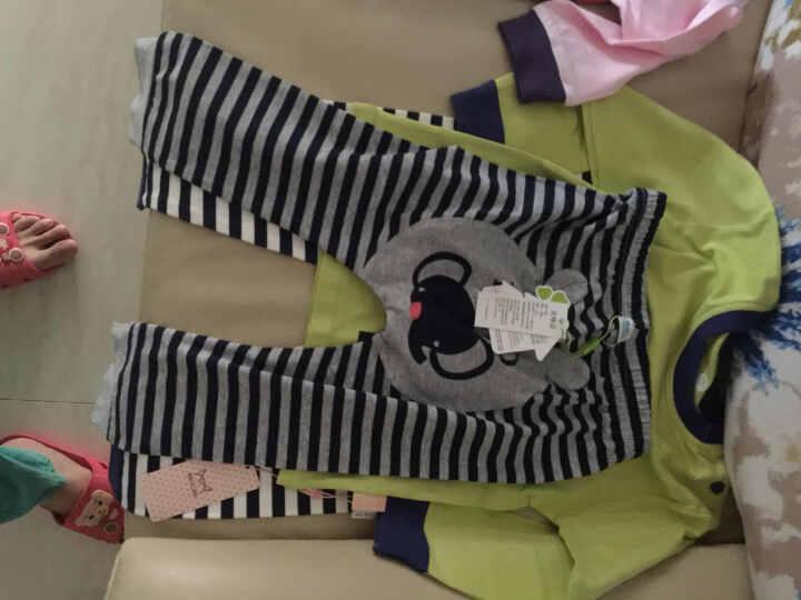 南极人夏季新款婴儿纯棉短裤裤子男女宝宝休闲短裤 织带短裙-蓝灰 90cm 晒单图
