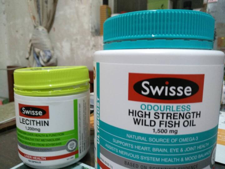 【全球购】Swisse澳洲原装无腥味深海鱼油1500mg调节三高保护心脑血管 鱼油+卵磷脂 晒单图