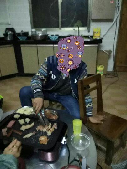 法诗缇(Fastee) 电烧烤炉家用 电烤炉 韩式无烟不粘分离式 适合5-8人 烤肉锅 电烤盘 极光银(双盘) 晒单图
