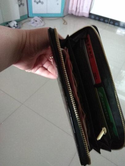 诗薇儿(Svale)女士钱包牛皮长款糖果色漆皮菱格手拿包14-30681B黑色 晒单图
