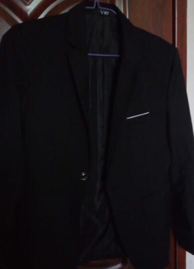 【wpkds】 西服男2018新款春夏男士修身西装职业装商务正装套装小西服男 黑色(单西服) XL.(135斤以内) 晒单图