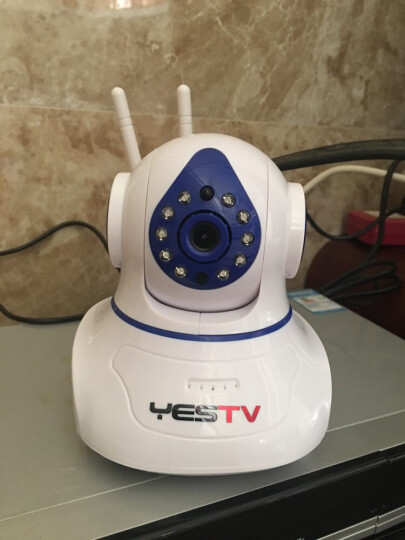 Yestv 监控摄像头高清家用监控器 无线家用监控器  网络摄像头 wifi 监控一体机 萌宠3号大白-720P-双尾 官方标配不带内存卡 晒单图