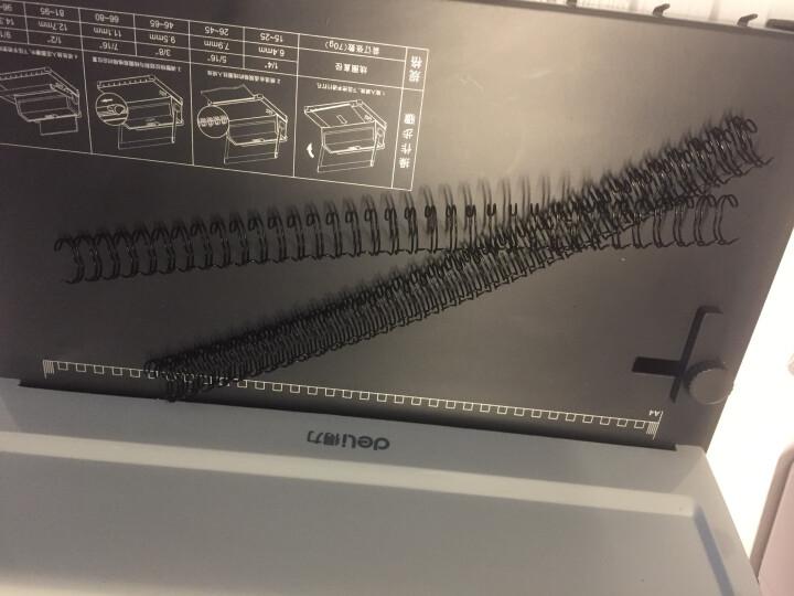 得力(deli)2182 装订铁圈 34孔双线圈经久耐用 不易变形 最大装订65张A470g 晒单图