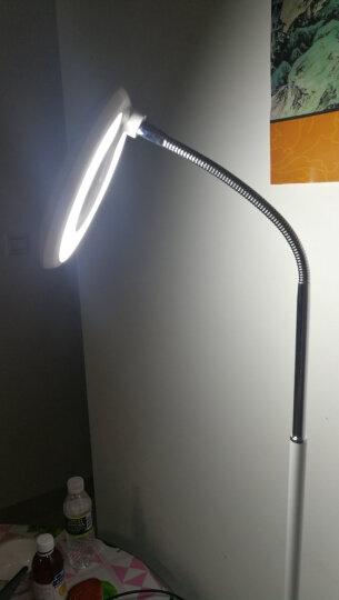 雅茹LED落地灯简约落地台灯客厅书房卧室床头立式灯 豪华黑色版不带遥控 晒单图