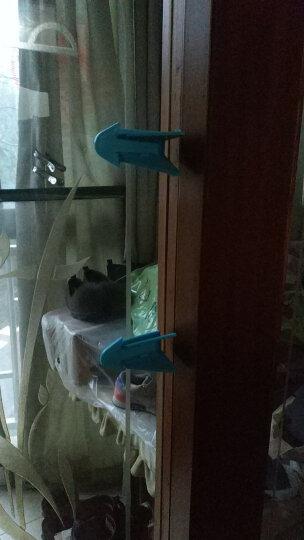 贝特熊 儿童窗户安全锁宝宝门窗防护安全锁婴儿推拉门窗锁扣免安装方便 蓝色(8只装) 晒单图