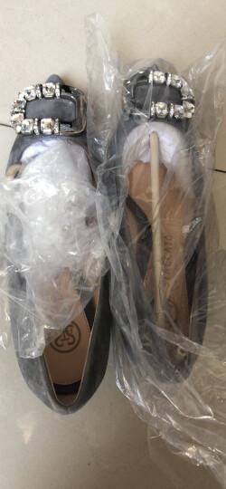 STACCATO/思加图专柜同款灰色羊绒皮闪耀水钻女单鞋9YR07CQ6 灰色 36 晒单图