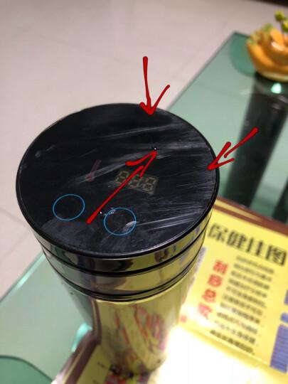车载加热杯智能电热水杯汽车用电热烧水壶保温杯 钢本色 晒单图