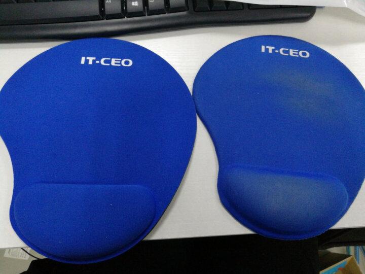 IT-CEO V714-B 加厚商务护腕鼠标垫子 布面腕托 人体工学键盘鼠标手腕垫手枕 适用办公桌面/激光鼠标 蓝色 晒单图