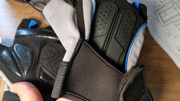 LAC 健身手套男士运动手套 女健身房哑铃器械训练半指护腕透气防滑骑行手套 蓝色L码 晒单图