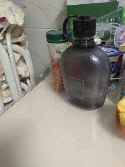 UZSPACE优之准军壶户外运动水杯大容量78准军式塑料水壶旅行便携环保水壶防漏防摔 磨砂土黄 750ML 晒单图