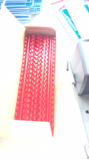 ECHO 爱可21孔梳式装订机装订环/胶圈/装订耗材装订胶圈黑白蓝红四色 文本合同文件装订耗材 红色 6mm/100支 晒单图