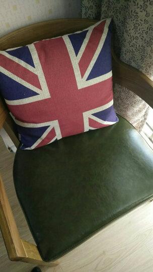 棉麻抱枕套含芯沙发靠枕办公室靠垫背 红色小格 45*45cm 晒单图