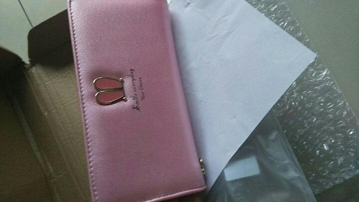 钱包女长款拉链钱夹多功能日韩学生多卡位卡包手拿包大容量手机包 B-253【粉色】 晒单图