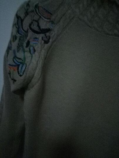 禹歌2017秋冬新款宽松圆领套头毛衣女秋冬款韩版长袖打底针织衫 浅咖 均码 晒单图
