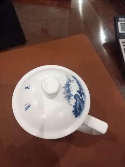 红叶 茶杯景德镇陶瓷水杯带盖办公泡茶杯子中式马克杯 锦绣 晒单图