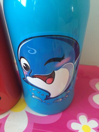 爱宝熊(IBOOLBEAR) 儿童保温杯保温奶瓶带吸管杯儿童水杯防摔便携直饮儿童水壶 红色小虎(316不锈钢) 晒单图