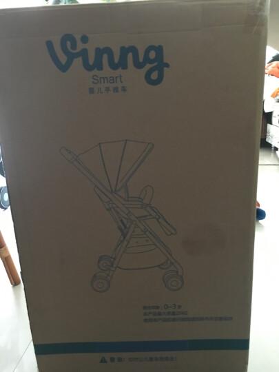 vinng 婴儿推车高景观轻便折叠避震婴儿车可坐可躺宝宝儿童超轻便夏季推车婴儿伞车可登机 高配-亚麻玫红 晒单图