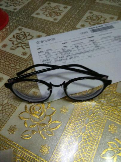 音米(INMIX)眼镜架女复古圆形眼镜框tr超轻框架可配近视光学眼镜韩版潮人眼镜女  2197 磨砂黑+送1.56防蓝光镜片 晒单图