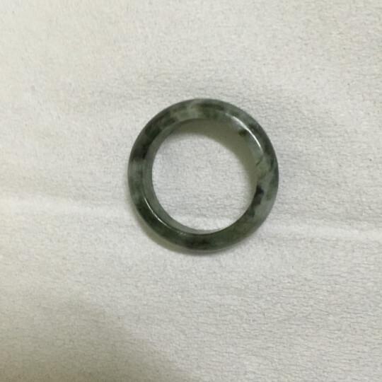 麓川古翠 8101缅甸A货翡翠戒指男士女士戒指指环 编号6426指环两枚(29号) 晒单图