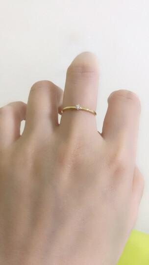 周大福 Y时代【刻字】简约时尚 18K金镶钻石戒指/钻戒 U159096 15号 1600元 晒单图