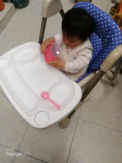 佳田(JUSTIN) 【买一送三】可折叠儿童餐椅 婴儿餐桌椅宝宝吃饭多功能座椅子 粉色波点 晒单图