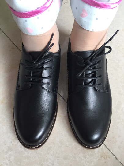 【名品精选】品牌专柜款 手工定制牛皮休闲鞋拼色运动鞋男女款新品600 黑色-定制款 36 晒单图