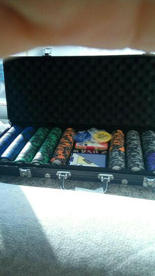 500码14g麦穗德州扑克筹码币铝盒套装 马车扑克 庄码大小盲 骰子 配500码黑色铝盒箱 晒单图