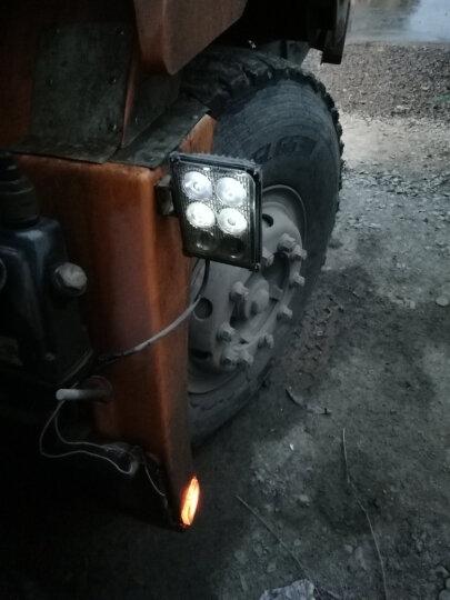 喜视摩托车灯汽车LED射灯大灯电动车灯货车车灯越野车改装超亮24V led灯12V倒车灯 6灯珠泛光平镜 亮白光 送开关 晒单图