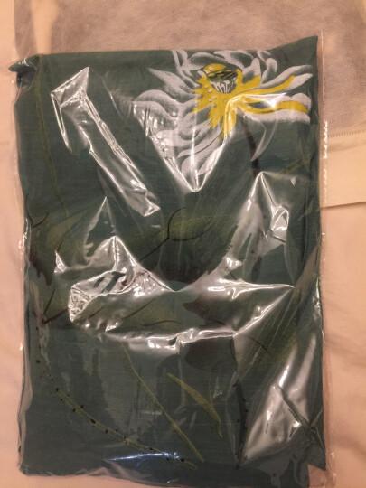 北极绒睡衣女夏季家居服短袖九分裤印花竹节棉中国风绵绸睡衣套装 8040浅绿 2XL(建议105-120斤以内) 晒单图