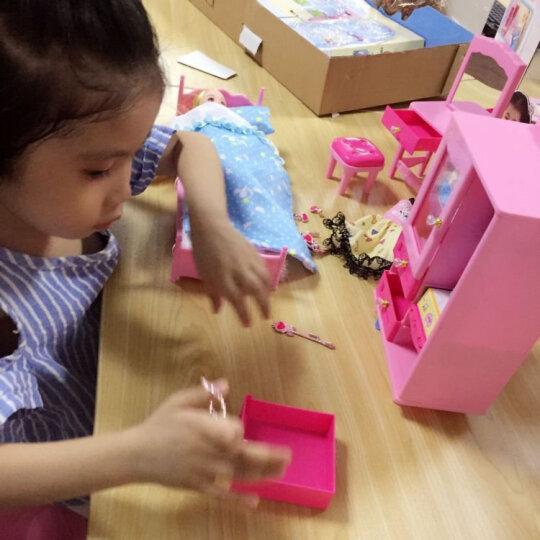 【拍下立减20元】乐吉儿芭比洋娃娃套装玩具大礼盒过家家女孩玩具3 6岁生日礼物换装衣橱梦幻公主屋 梦幻公主房间 A072 晒单图