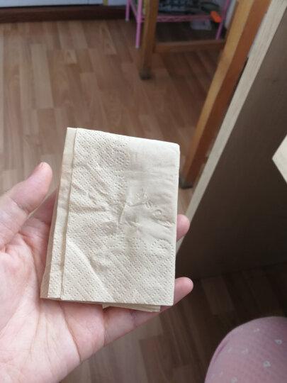 斑布(BABO) 本色抽纸 无漂白竹浆 BASE系列2层35抽随身包面巾纸(手帕纸)*12包 晒单图