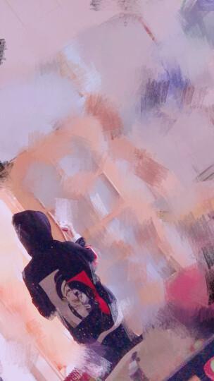 2019夏季新款套头卫衣 韩版拼接撞色连帽衫学生冬季加绒加厚卫衣男 潮流长袖衣服宽松外套男 夹克男 小丑黑色 M 晒单图