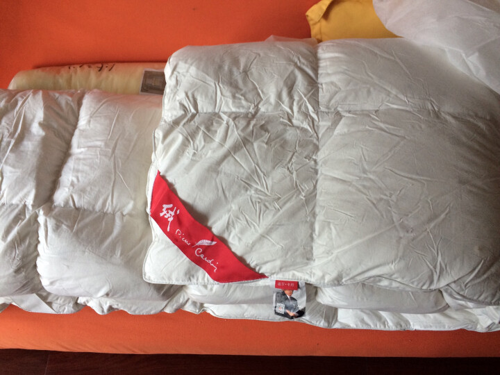 皮尔卡丹 全棉羽绒床褥子 95白鹅毛学生床垫子 羽绒床护垫榻榻米透气床 纯白色 120*200cm 晒单图