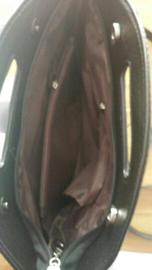 素扬手拿包女手包晚宴包女包2017新款单肩包链条包斜跨 格子黑色 晒单图