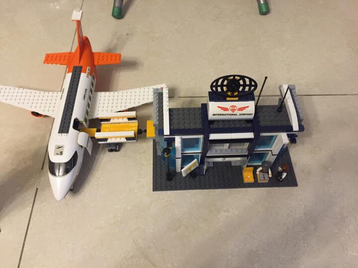 快乐小鲁班兼容乐高空中巴士拼装飞机航天航空系列模型大型客机男孩子玩具组装城市拼插拼装益智玩具8周岁6 0367 国际机场 678片 晒单图