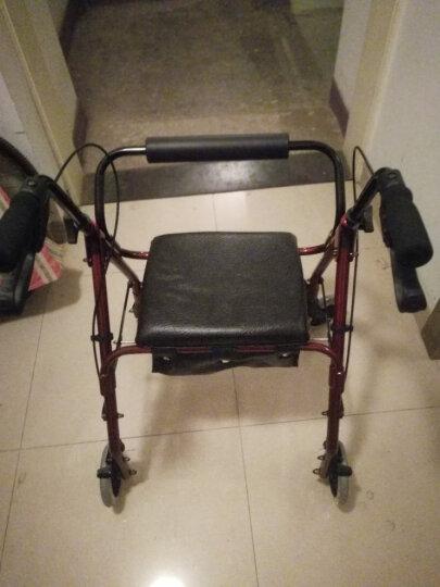 优康德 老年人助行购物车UKD-3505 时尚软座款铝合金助行手推车可折叠便携买菜车轮椅车 晒单图