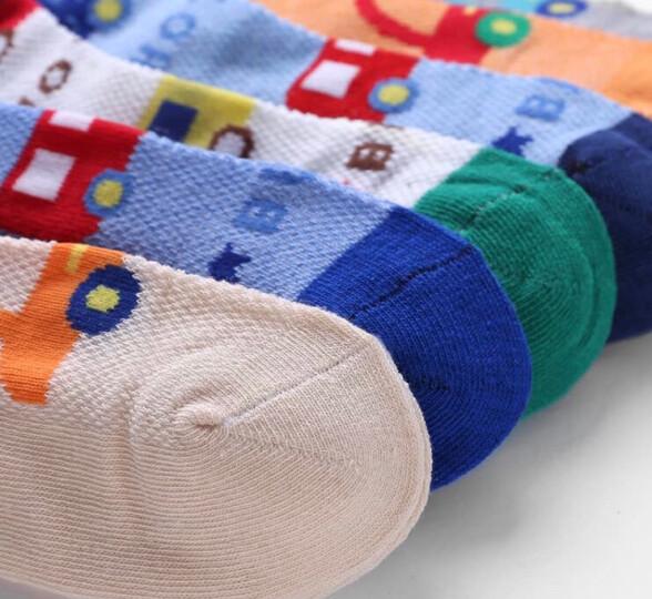 浪莎儿童袜子夏季网眼透气薄款精梳棉袜学生短袜6双装 春夏网眼-猫咪 10岁以上 鞋码35-40码 22-24CM 晒单图